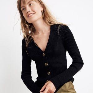 Madewell Shrunken Ribbed Cardigan Sweater